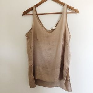 Rose gold wavy high-low beautiful tank cami by h&m